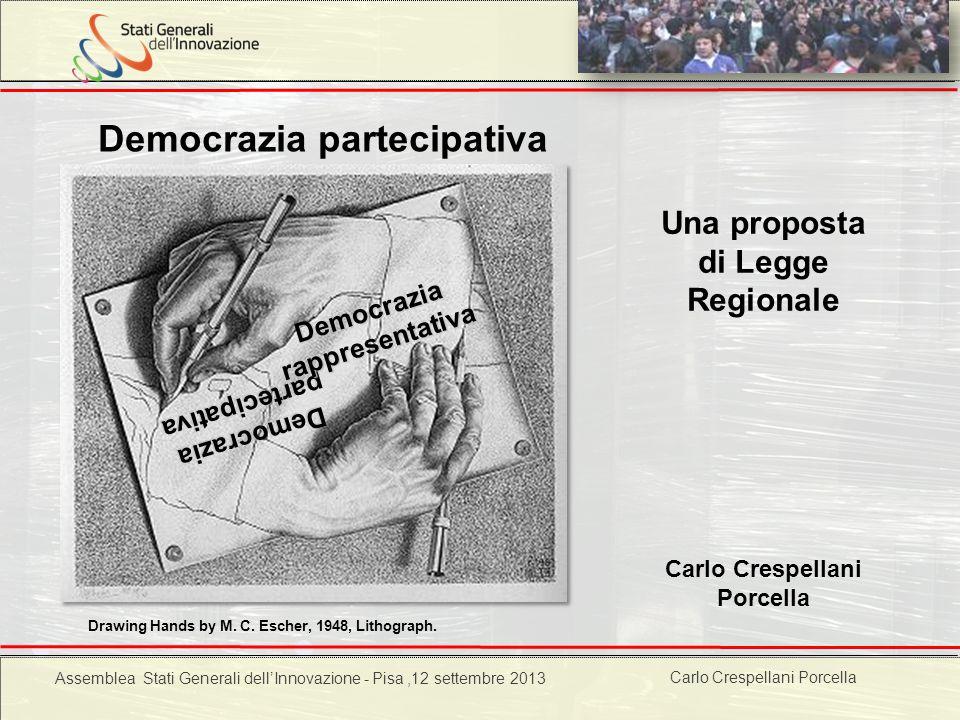 Carlo Crespellani Porcella Progetto POR 2000-2006 : Progettazione ambientale Democrazia partecipativa Drawing Hands by M. C. Escher, 1948, Lithograph.