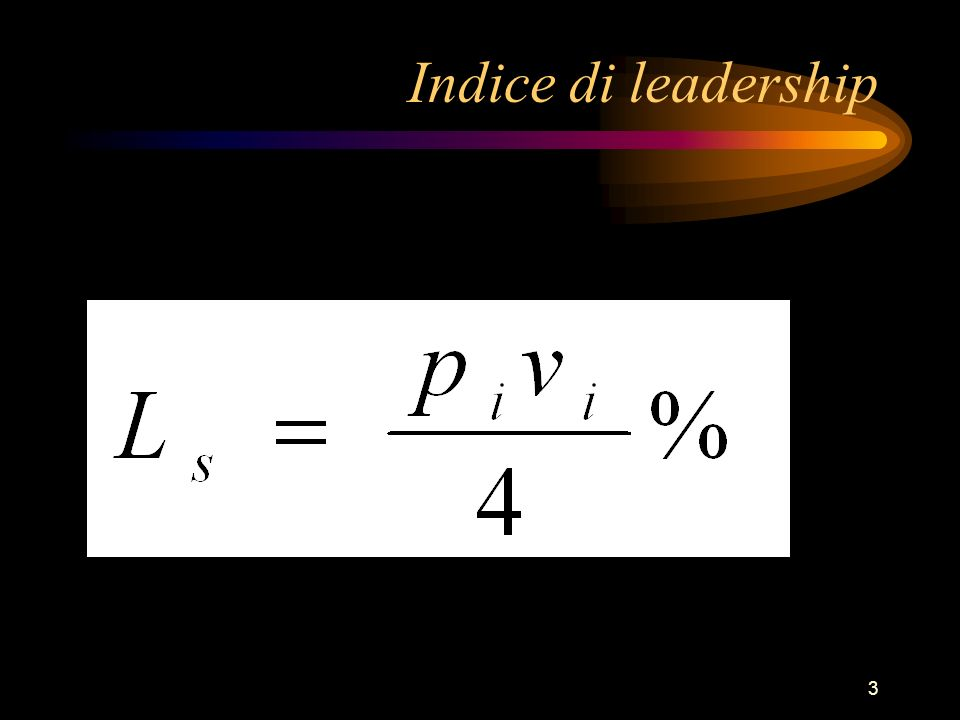 3 Indice di leadership