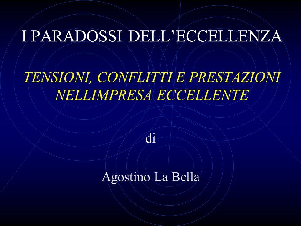 I PARADOSSI DELLECCELLENZA TENSIONI, CONFLITTI E PRESTAZIONI NELLIMPRESA ECCELLENTE di Agostino La Bella