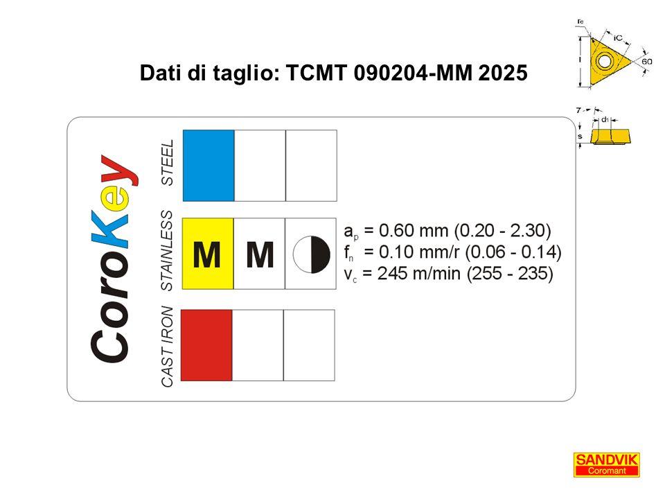 Dati di taglio: TCMT 090204-MM 2025