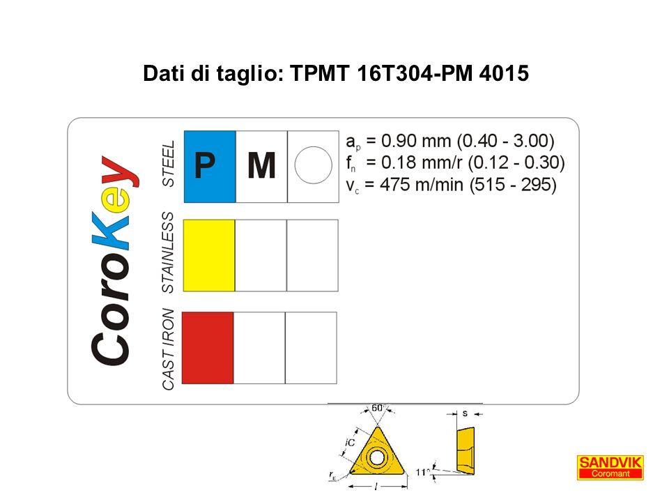 Dati di taglio: TPMT 16T304-PM 4015