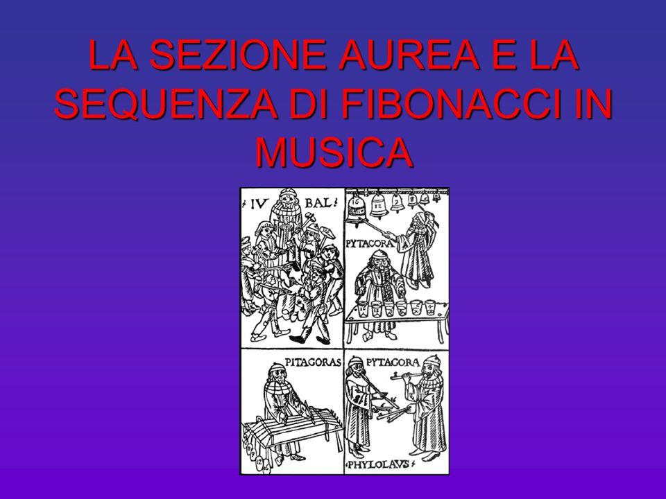 LA SEZIONE AUREA E LA SEQUENZA DI FIBONACCI IN MUSICA