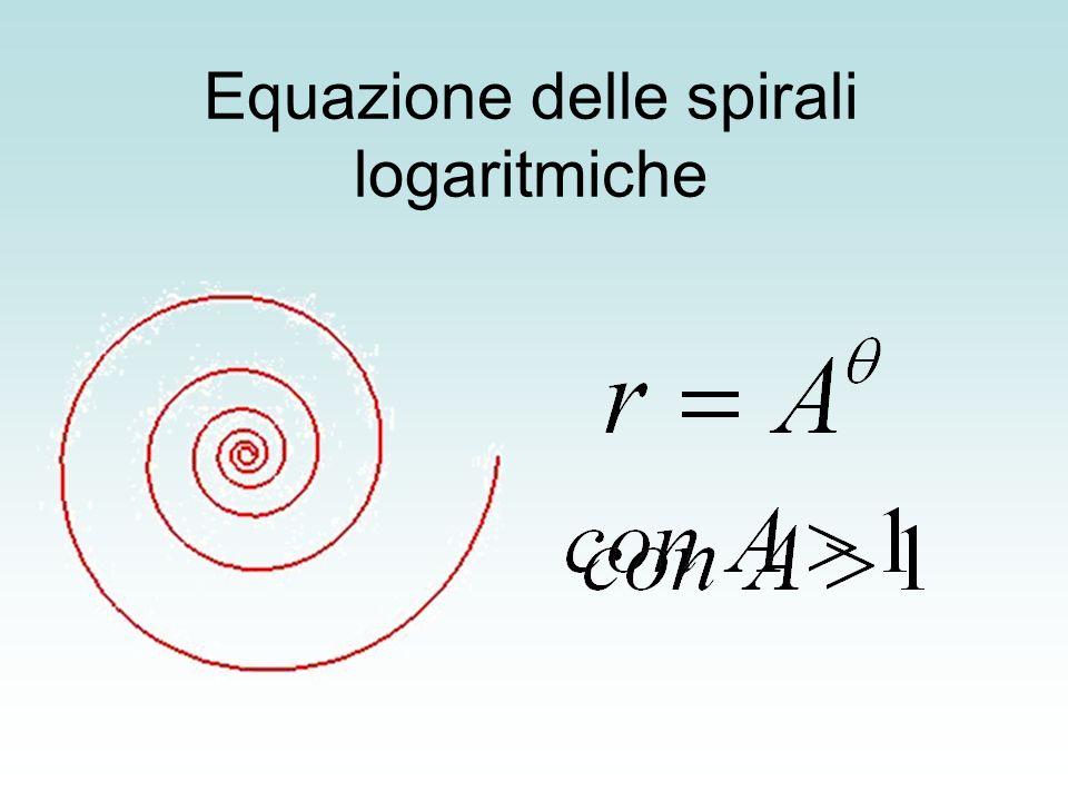 Equazione delle spirali logaritmiche