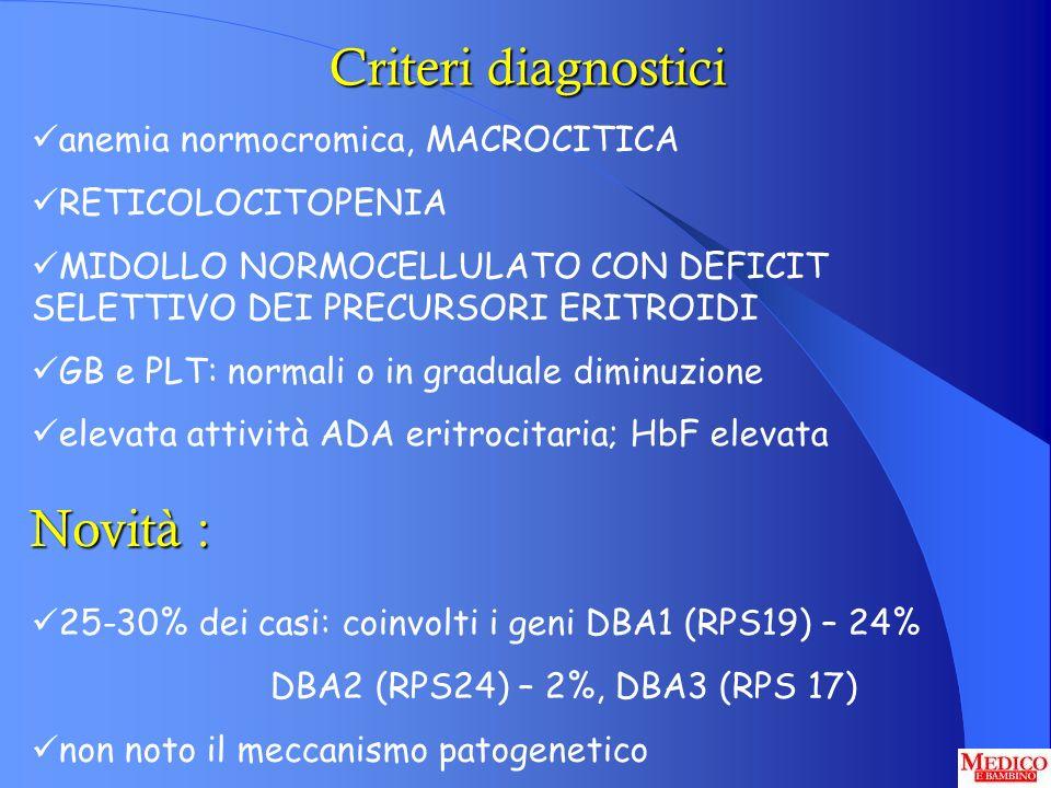 anemia normocromica, MACROCITICA RETICOLOCITOPENIA MIDOLLO NORMOCELLULATO CON DEFICIT SELETTIVO DEI PRECURSORI ERITROIDI GB e PLT: normali o in gradua