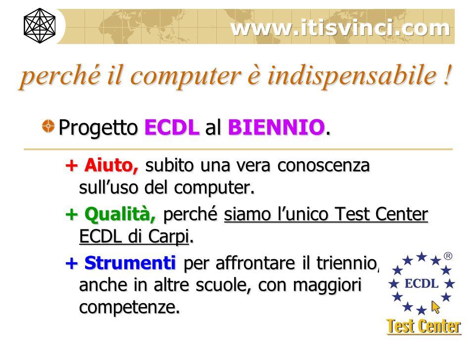 perché il computer è indispensabile .Progetto ECDL al BIENNIO.