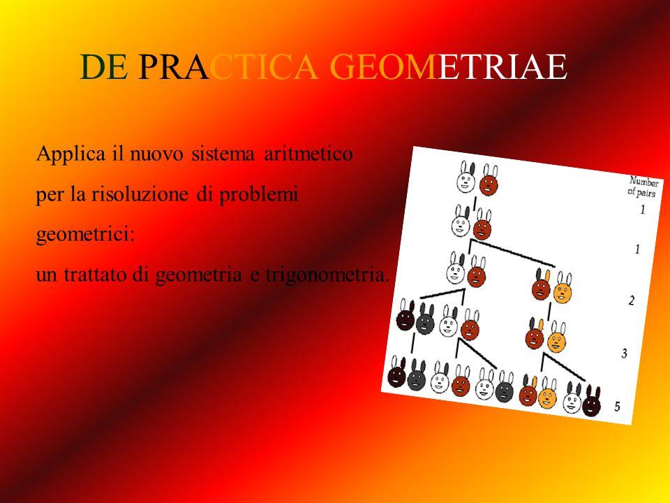 DE PRACTICA GEOMETRIAE Applica il nuovo sistema aritmetico per la risoluzione di problemi geometrici: un trattato di geometria e trigonometria.