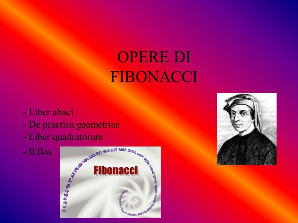 OPERE DI FIBONACCI - Liber abaci - De practica geometriae - Liber quadratorum - Il flos