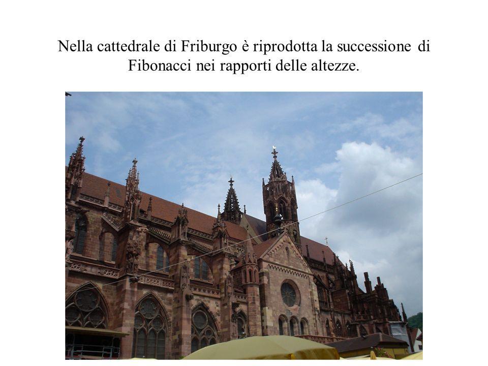 Nella cattedrale di Friburgo è riprodotta la successione di Fibonacci nei rapporti delle altezze.