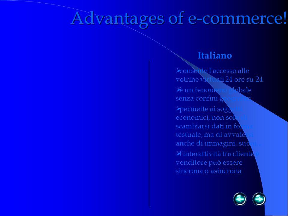 Advantages of e-commerce.
