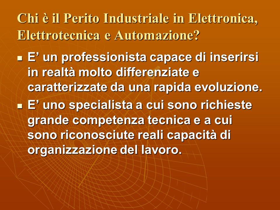 Chi è il Perito Industriale in Elettronica, Elettrotecnica e Automazione.