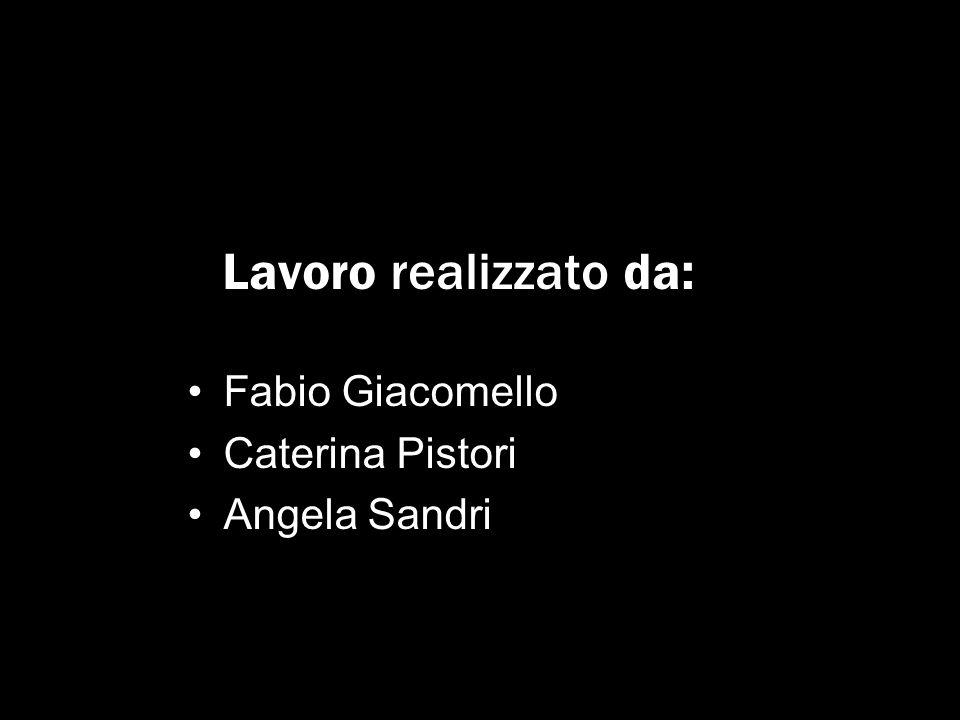 Lavoro realizzato da: Fabio Giacomello Caterina Pistori Angela Sandri