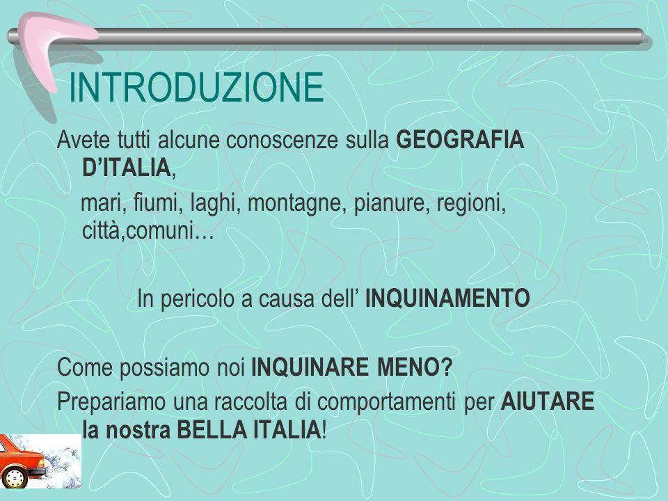 EDUCAZIONE AMBIENTALE WEB QUEST: INQUINAMENTO di Fanin Manuela Corso di Lingua e Cultura Italiana per adolescenti e adulti Educazione Civica Studenti