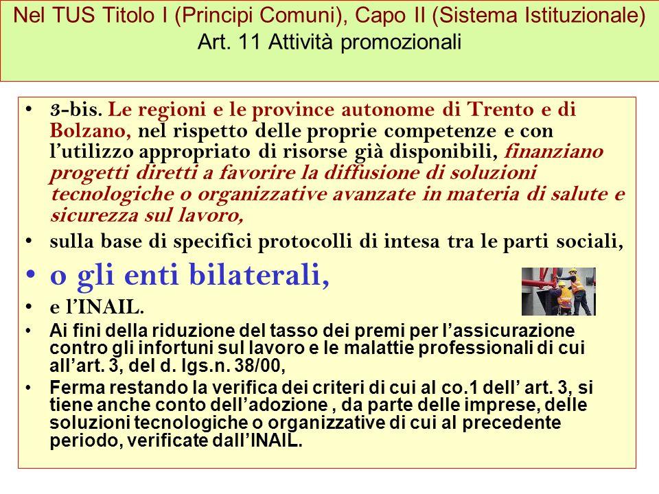 Nel TUS Titolo I (Principi Comuni), Capo II (Sistema Istituzionale) Art.