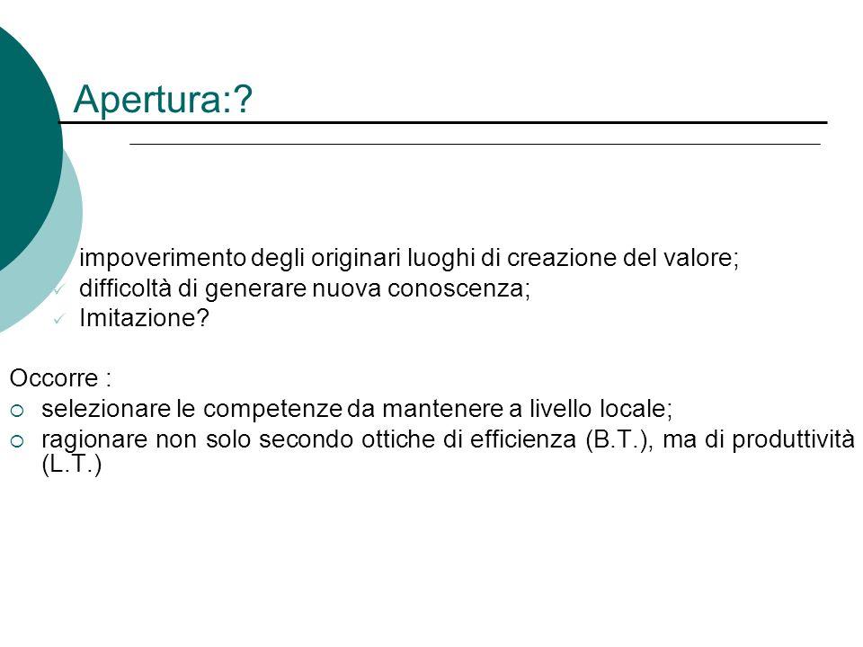 Internazionalizzazione dei distretti. Quasi i due terzi delloutput e dellexport del Made in Italy provengono da aree distrettuali: -Effetto distretto