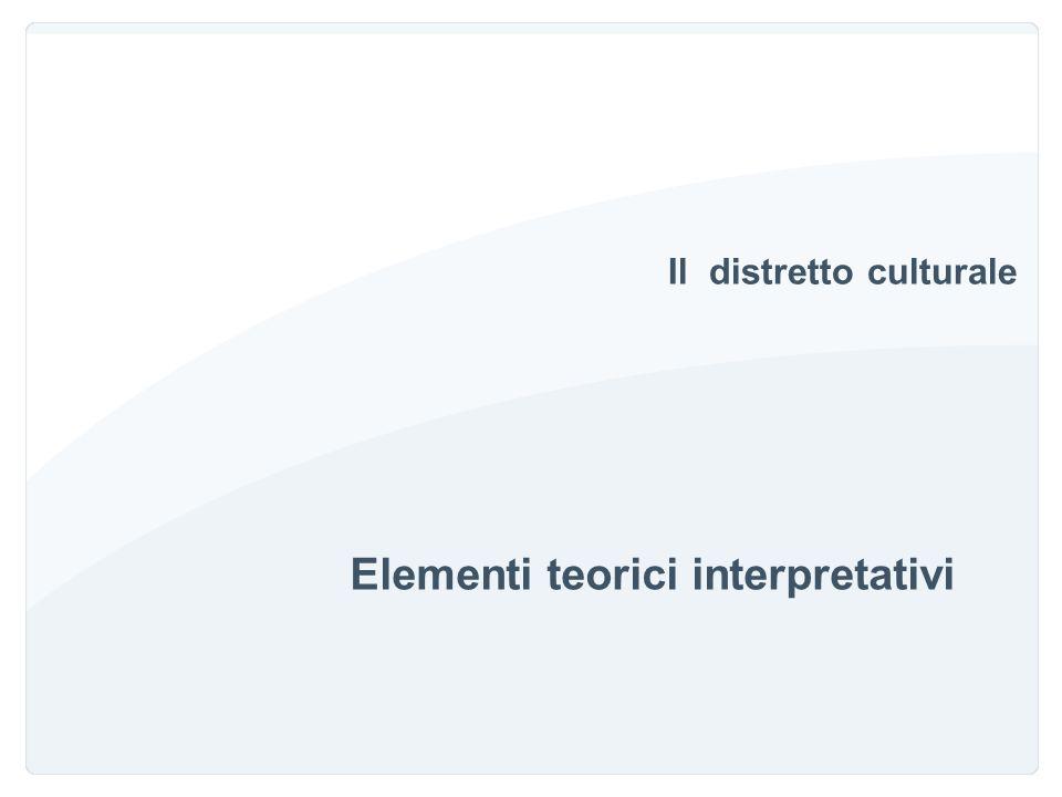 Il distretto culturale Elementi teorici interpretativi