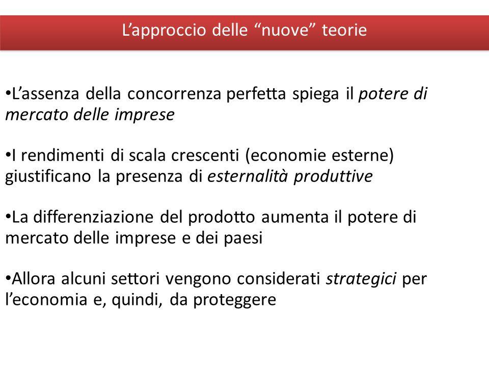 Giuseppe De Arcangelis © 2012Economia Internazionale13 Lapproccio delle nuove teorie Lassenza della concorrenza perfetta spiega il potere di mercato d