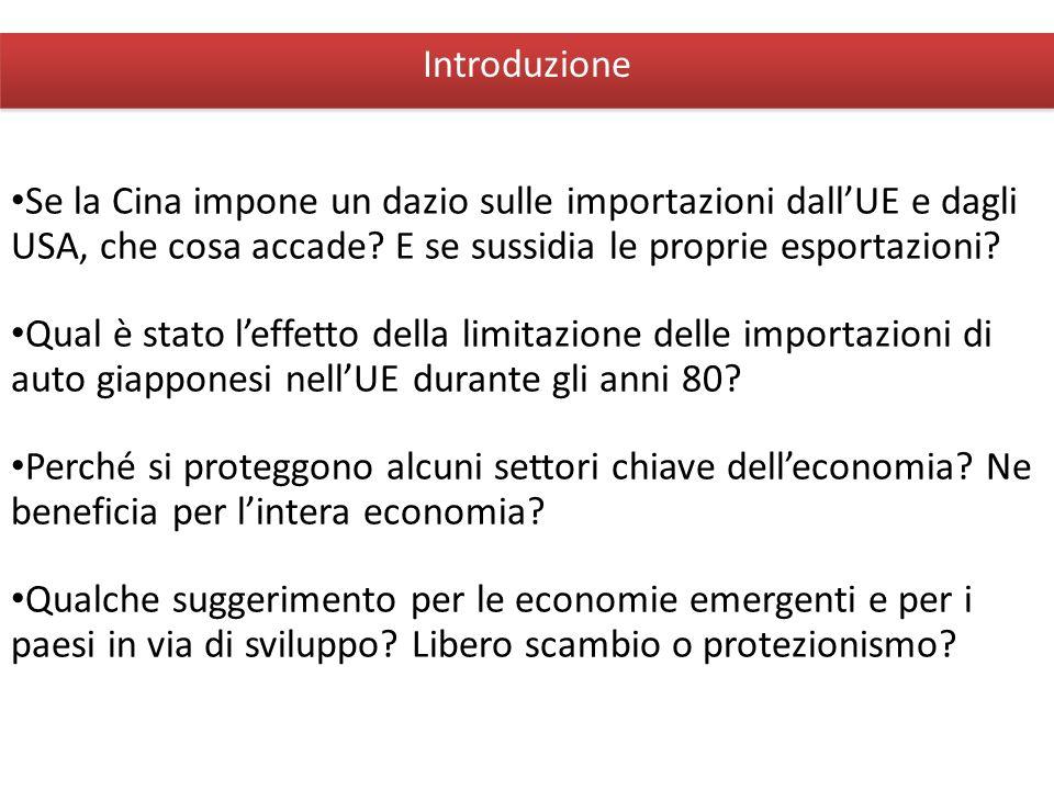 Giuseppe De Arcangelis © 2012Economia Internazionale2 Introduzione Se la Cina impone un dazio sulle importazioni dallUE e dagli USA, che cosa accade?