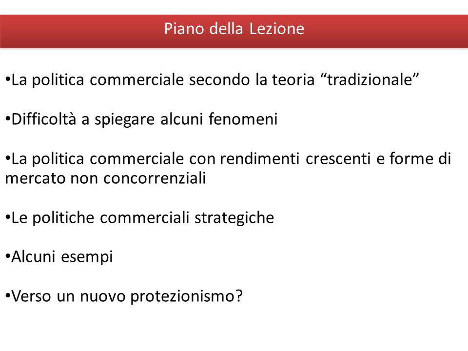 Giuseppe De Arcangelis © 2012Economia Internazionale3 Piano della Lezione La politica commerciale secondo la teoria tradizionale Difficoltà a spiegare