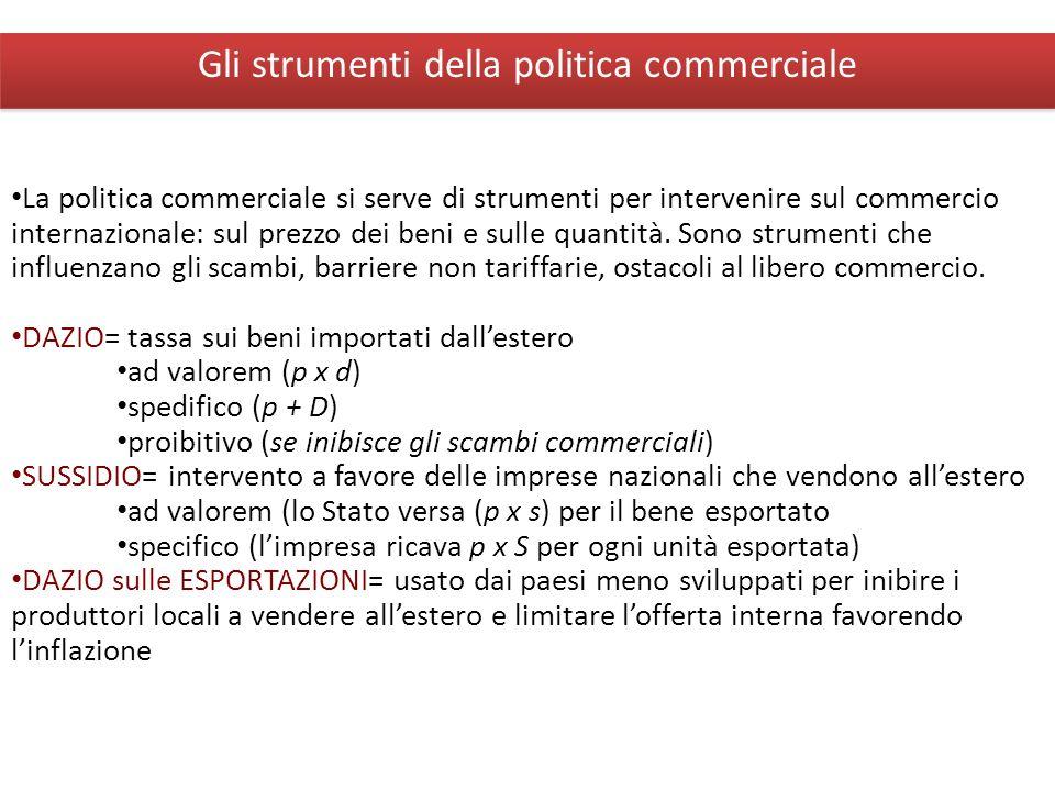 Giuseppe De Arcangelis © 2012Economia Internazionale4 Gli strumenti della politica commerciale La politica commerciale si serve di strumenti per inter