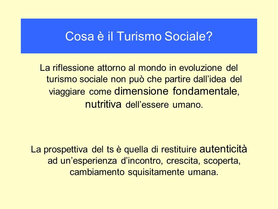 Cosa è il Turismo Sociale? La riflessione attorno al mondo in evoluzione del turismo sociale non può che partire dallidea del viaggiare come dimension