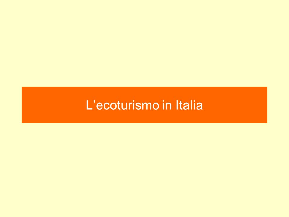 Lecoturismo in Italia