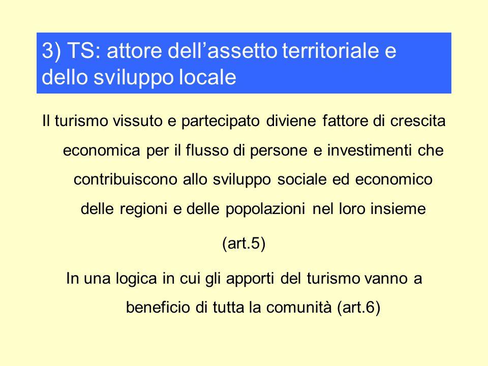 Il turismo vissuto e partecipato diviene fattore di crescita economica per il flusso di persone e investimenti che contribuiscono allo sviluppo social