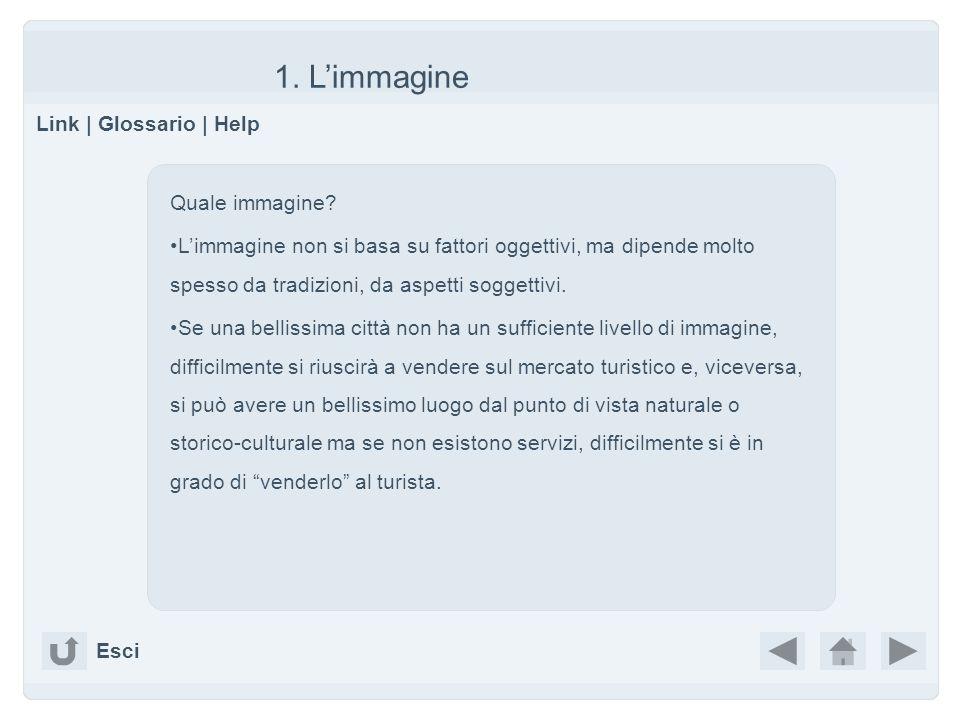 1. Limmagine Link | Glossario | Help Esci Quale immagine? Limmagine non si basa su fattori oggettivi, ma dipende molto spesso da tradizioni, da aspett