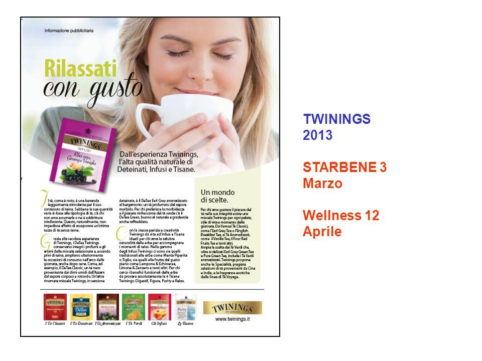 TWININGS 2013 STARBENE 3 Marzo Wellness 12 Aprile