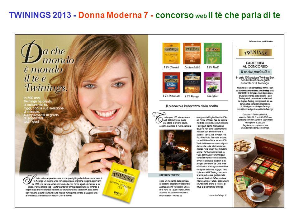 TWININGS 2013 - Donna Moderna 7 - concorso web il tè che parla di te