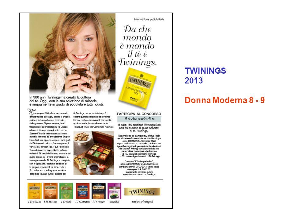 TWININGS 2013 Donna Moderna 8 - 9