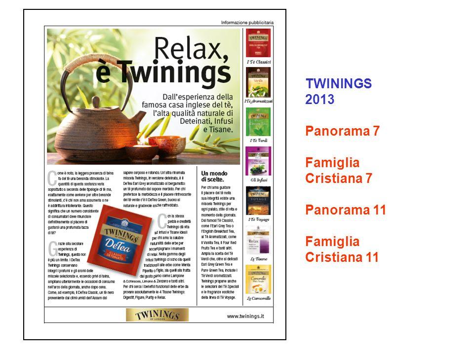 TWININGS 2013 Panorama 7 Famiglia Cristiana 7 Panorama 11 Famiglia Cristiana 11