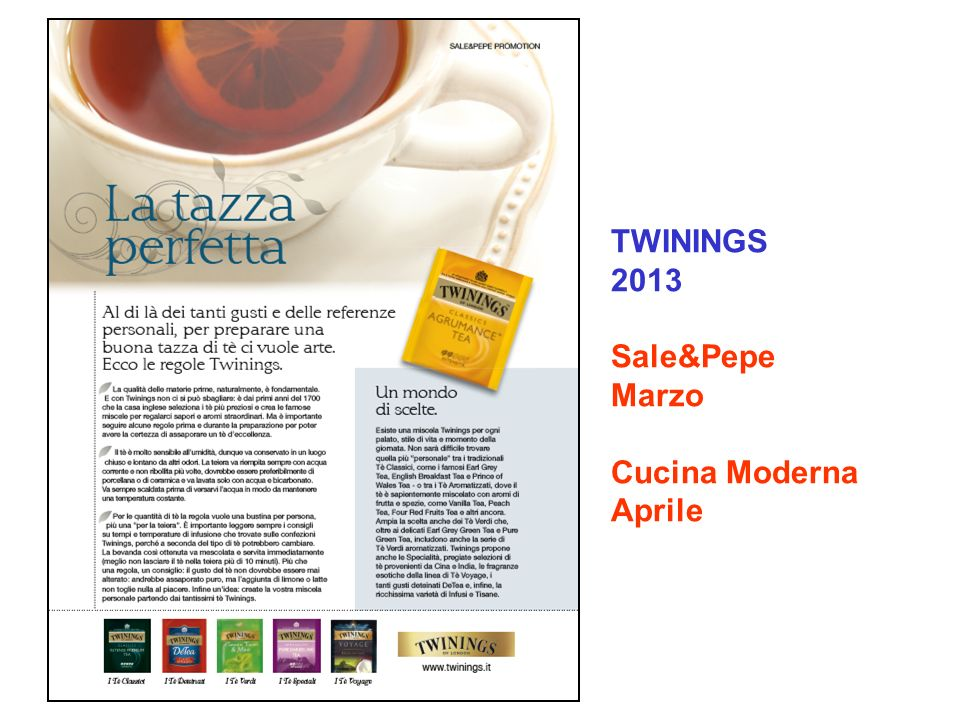 TWININGS 2013 Sale&Pepe Marzo Cucina Moderna Aprile