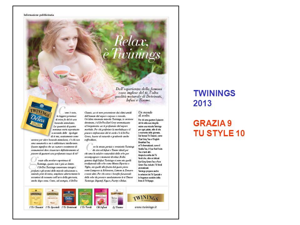 TWININGS 2013 GRAZIA 9 TU STYLE 10