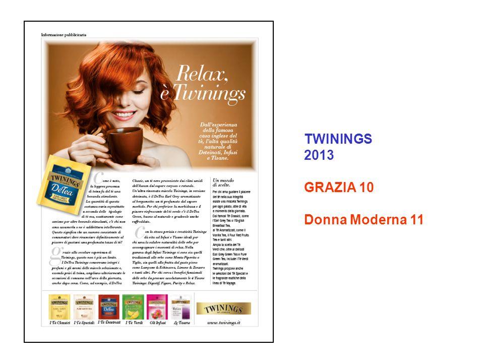 TWININGS 2013 GRAZIA 10 Donna Moderna 11