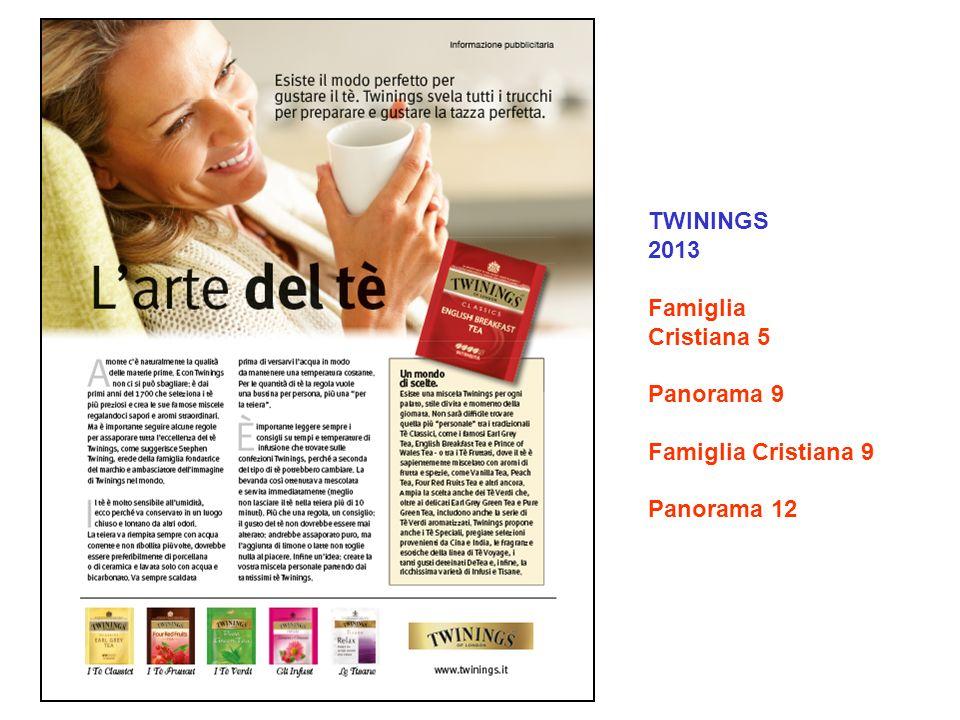 TWININGS 2013 Famiglia Cristiana 5 Panorama 9 Famiglia Cristiana 9 Panorama 12