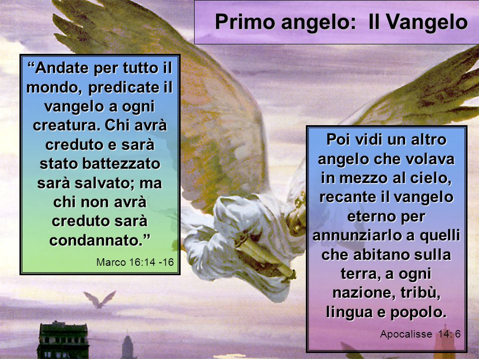 Andate per tutto il mondo, predicate il vangelo a ogni creatura.