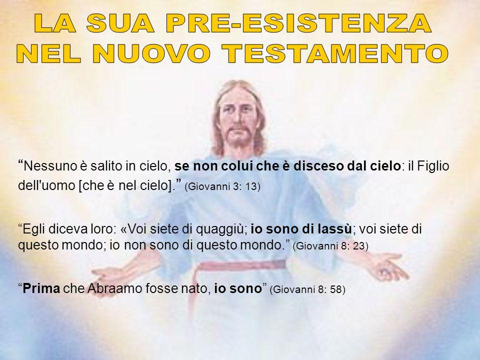 Nessuno è salito in cielo, se non colui che è disceso dal cielo: il Figlio dell uomo [che è nel cielo].