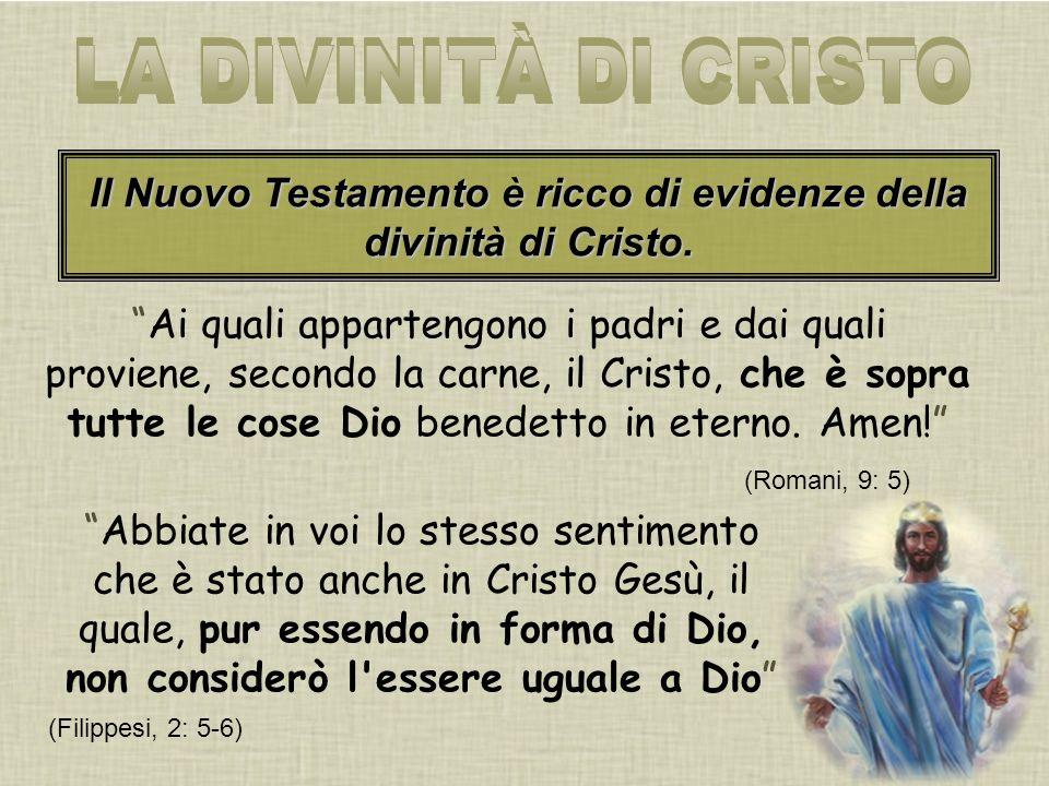 Ai quali appartengono i padri e dai quali proviene, secondo la carne, il Cristo, che è sopra tutte le cose Dio benedetto in eterno.