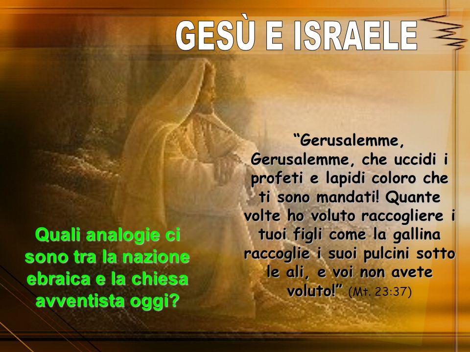 Gerusalemme, Gerusalemme, che uccidi i profeti e lapidi coloro che ti sono mandati! Quante volte ho voluto raccogliere i tuoi figli come la gallina ra