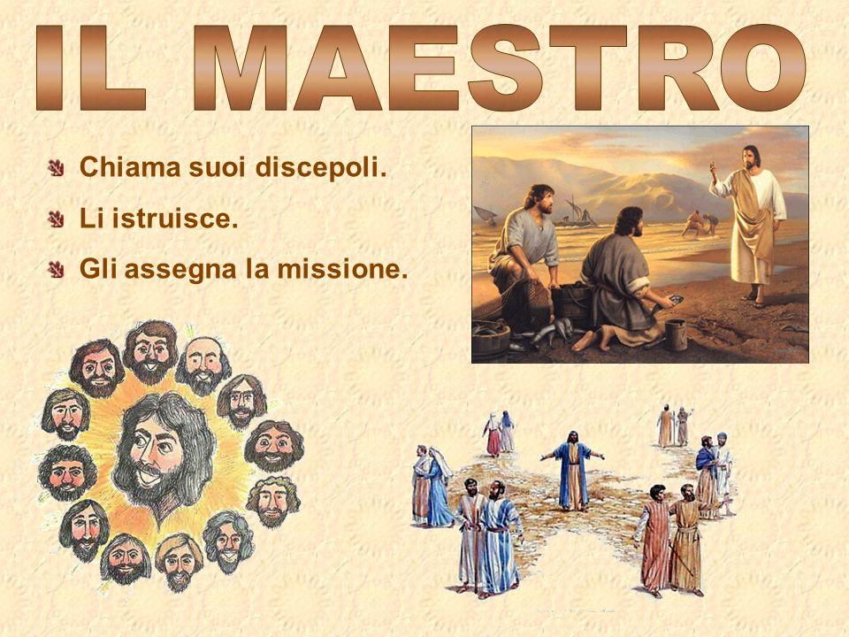 Chiama suoi discepoli. Li istruisce. Gli assegna la missione.