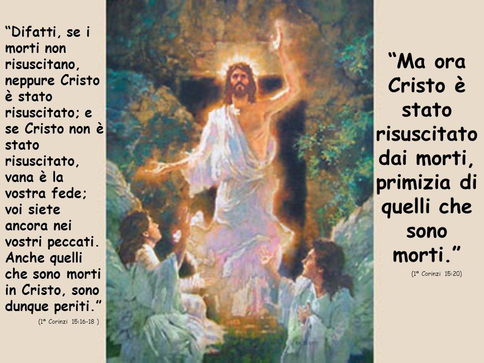 Difatti, se i morti non risuscitano, neppure Cristo è stato risuscitato; e se Cristo non è stato risuscitato, vana è la vostra fede; voi siete ancora nei vostri peccati.