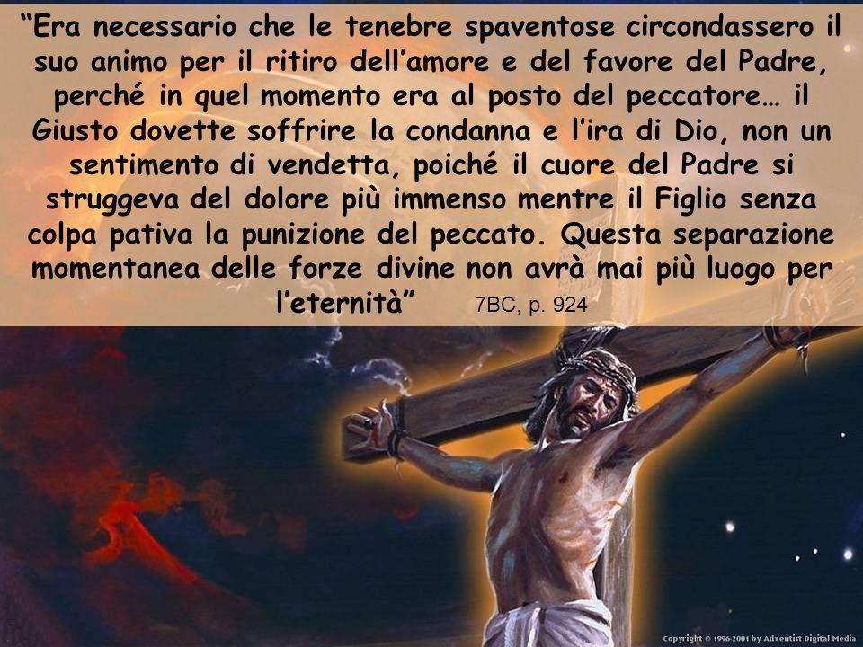Gesù, volontariamente, diede la sua vita sulla croce.