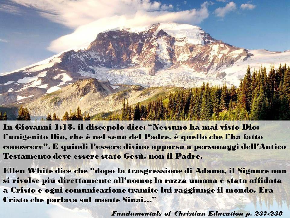 In Giovanni 1:18, il discepolo dice: Nessuno ha mai visto Dio; lunigenito Dio, che è nel seno del Padre, è quello che lha fatto conoscere. E quindi le