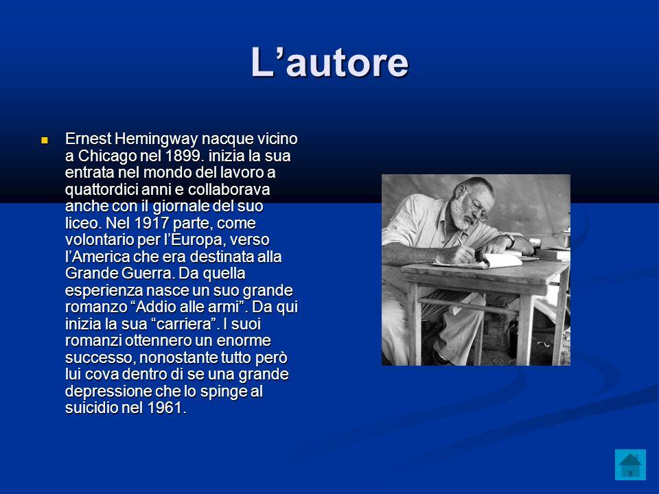 Lautore Ernest Hemingway nacque vicino a Chicago nel 1899.