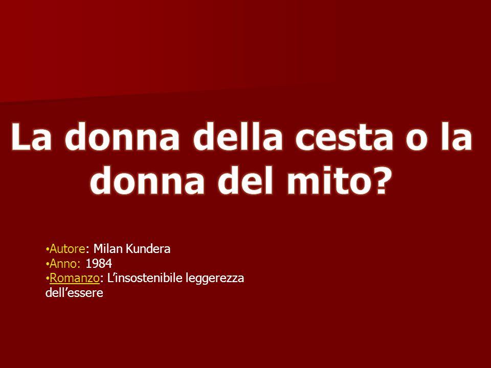 Autore: Milan Kundera Anno: 1984 Romanzo: Linsostenibile leggerezza dellessere