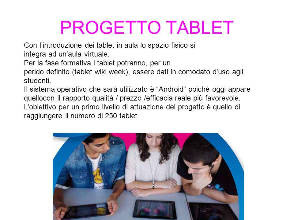 Con lintroduzione dei tablet in aula lo spazio fisico si integra ad unaula virtuale.