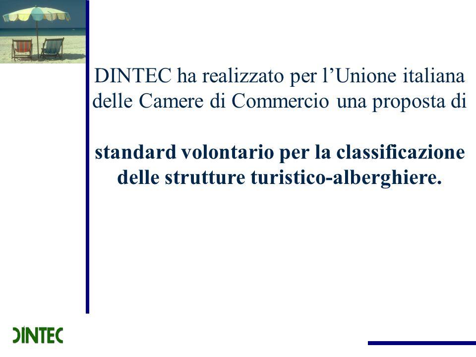 DINTEC ha realizzato per lUnione italiana delle Camere di Commercio una proposta di standard volontario per la classificazione delle strutture turisti