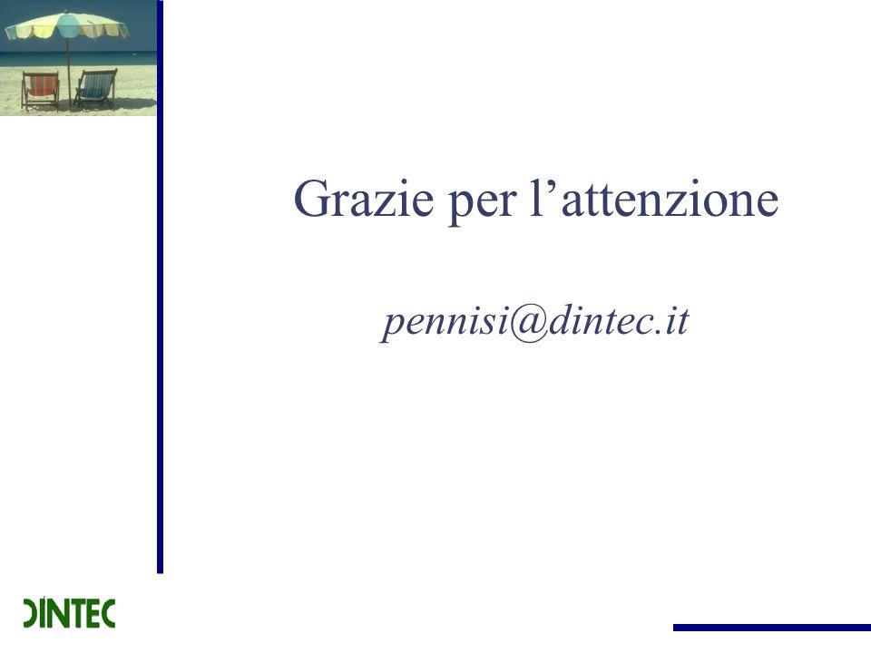 Grazie per lattenzione pennisi@dintec.it