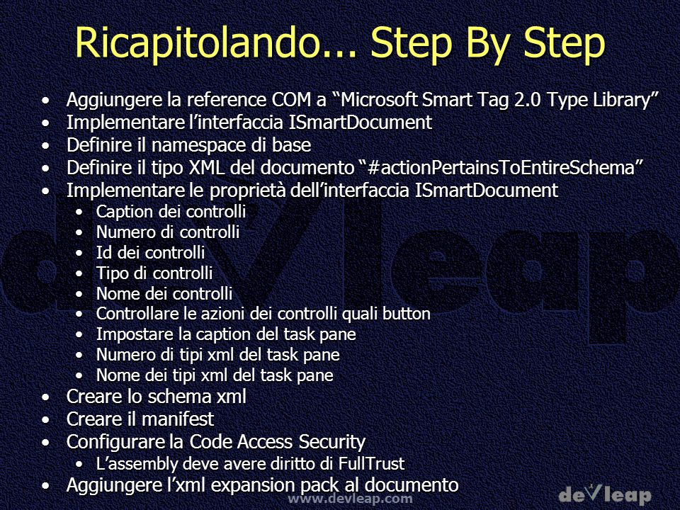www.devleap.com Ricapitolando...
