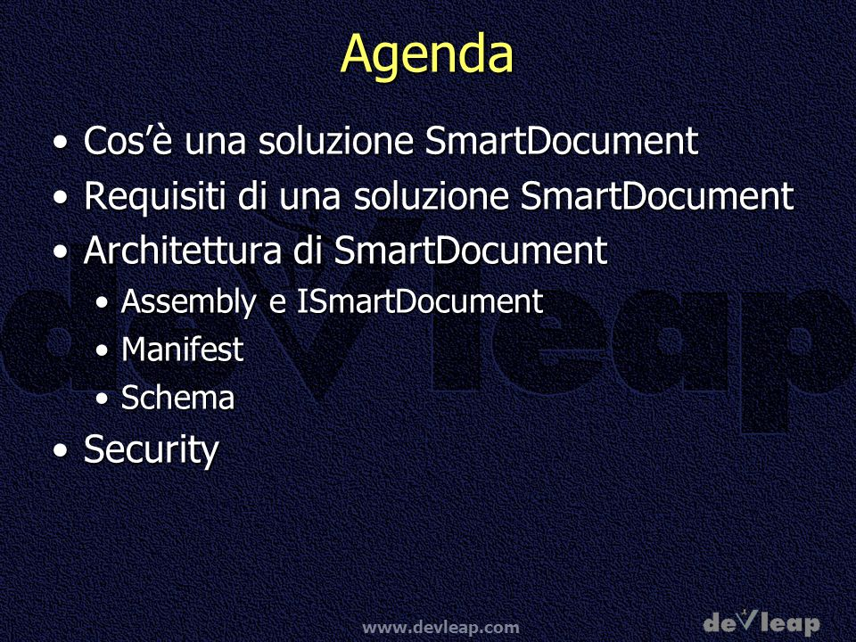 www.devleap.com Smart Document Basics Parte I